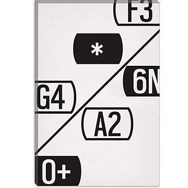 iCanvas Modern Schematic Typography Graphic Art on Canvas; 12'' H x 8'' W x 0.75'' D
