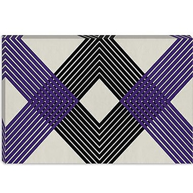 iCanvas Modern Intersecting Lozenge Graphic Art on Canvas; 40'' H x 60'' W x 1.5'' D