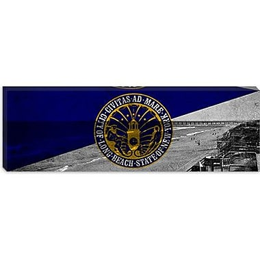 iCanvas Flags Long Beach Panoramic Graphic Art on Canvas; 16'' H x 48'' W x 1.5'' D