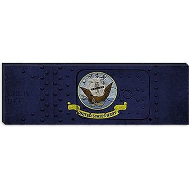 iCanvas Flags Navy Metal Rivet Panoramic Graphic Art on Canvas; 16'' H x 48'' W x 1.5'' D