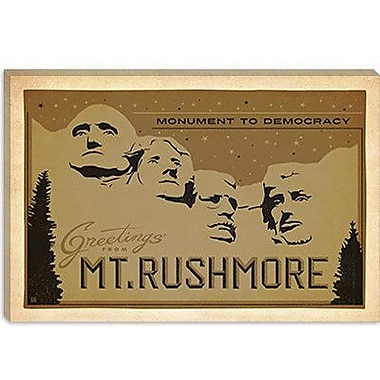 'Monument to Democracy Mount Rushmore' by Anderson Design Group Vintage Advertisement on Canvas