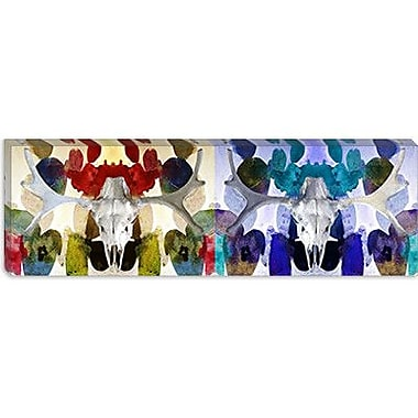 iCanvas Canada Moose Skull Panoramic Graphic Art on Canvas; 16'' H x 48'' W x 1.5'' D