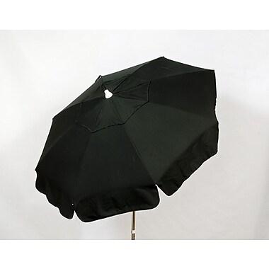 Parasol Italian 6' Drape Umbrella; Black