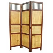 D-Art Collection 70'' x 52'' Bahama 3 Panel Room Divider