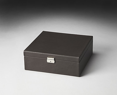 Butler Hors D'oeuvres Lido Leather Storage Case; Black