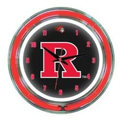 Wave 7 NCAA 14'' Team Neon Wall Clock; Rutgers