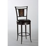 Hillsdale Parkside 26'' Swivel Bar Stool w/ Cushion; Copper