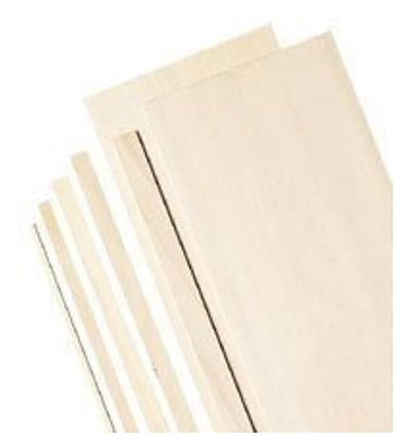 Alvin and Co. Bass Wood Sheets (Set of 5); 0.09''