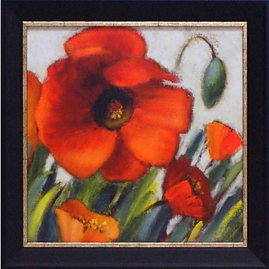 Artistic Reflections Poppy Splendor Square II by Loreth, Lanie Framed Painting Print