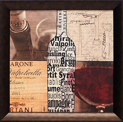 Artistic Reflections Wine Collage Framed Graphic Art