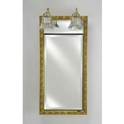 Afina Signature 17'' x 40'' Recessed Medicine Cabinet w/ Lighting; Tuscany Antique Gold