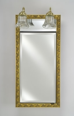 Afina Signature 20'' x 30'' Recessed Medicine Cabinet w/ Lighting; Regal Antique Silver