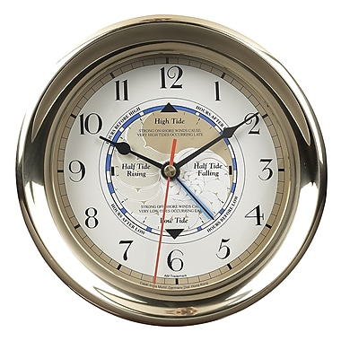Authentic Models 7.1'' Captain's Time and Tide Wall Clock