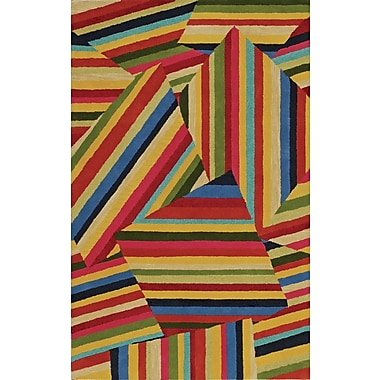 Dalyn Rug Co. Serendipity Wool Yellow/Red Area Rug; Rectangle 9' x 13'