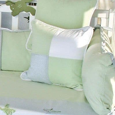 Brandee Danielle One Little Froggie Patch Decorator Throw Pillow