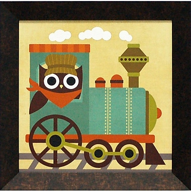 Artistic Reflections Owl Train Tractor by Lee, Nancy Framed Graphic Art