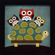 Artistic Reflections Three Owls on Turtle by Lee, Nancy Framed Graphic Art
