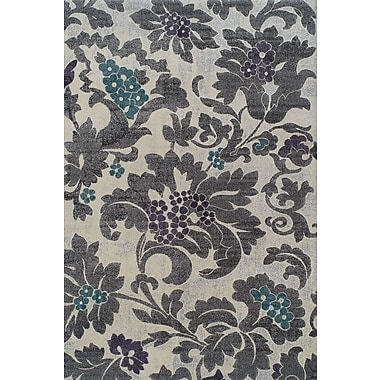 Dalyn Rug Co. Grand Tour Silver Floral Area Rug; 9'6'' x 13'2''