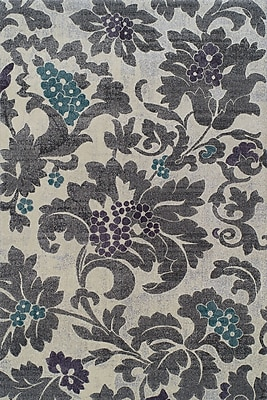 Dalyn Rug Co. Grand Tour Silver Floral Area Rug; 3'3'' x 5'1''