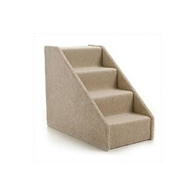 Lucky Cat Large Solid Side 4 Step Pet Stair; Tan