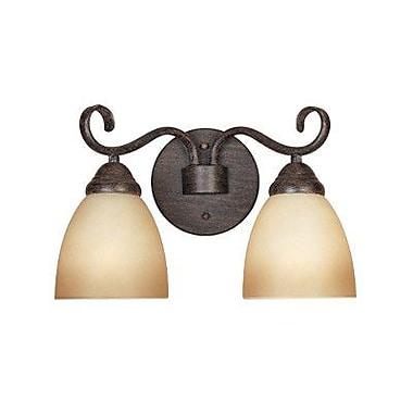 Designers Fountain Stratton 2-Light Vanity Light; Warm Mahogany