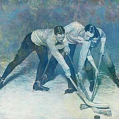 iCanvas Canada Vintage Hockey Game #2 Painting Print on Wrapped Canvas; 26'' H x 26'' W x 1.5'' D