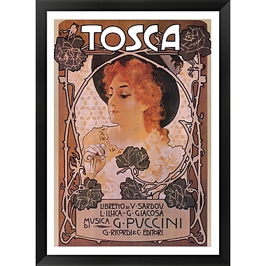Evive Designs Tosca Framed Vintage Advertisement