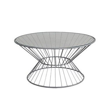 Fashion N You Wire Coffee Table w/ Glass Top