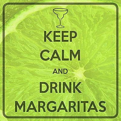 iCanvas Keep Calm and Drink Margaritas Graphic Art on Canvas; 18'' H x 18'' W x 0.75'' D
