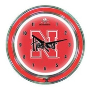Wave 7 NCAA 14'' Team Neon Wall Clock; Nebraska