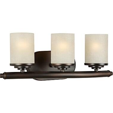 Forte Lighting 3-Light Vanity Light; Antique Bronze / Umber Linen