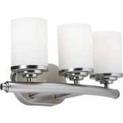 Forte Lighting 3-Light Vanity Light; Brushed Nickel / Satin Opal