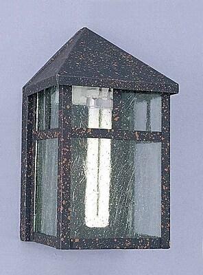 Volume Lighting 1-Light Outdoor Flush Mount; Rust