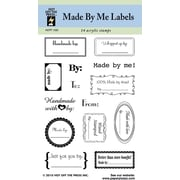 Hot Off the Press Made By Me Labels Clear Stamp Set