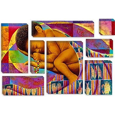 iCanvas 'In His Hands' by Keith Mallett Graphic Art on Canvas; 18'' H x 26'' W x 0.75'' D