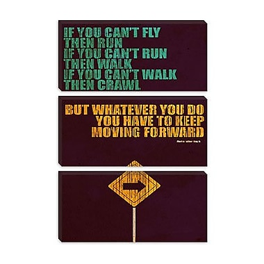iCanvas 'Keep Moving Forward' by Budi Satria Kwan Textual Art on Canvas; 12'' H x 8'' W x 0.75'' D
