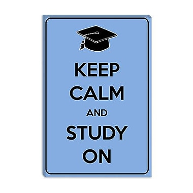 iCanvas Keep Calm and Study on Graphic Art on Canvas; 40'' H x 26'' W x 1.5'' D