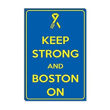 iCanvas Keep Calm Strong and Boston on Graphic Art on Canvas; 18'' H x 12'' W x 0.75'' D