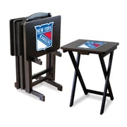 Imperial NHL TV Trays w/ Stand (Set of 4); New York Rangers