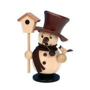 Christian Ulbricht Snowman w/ Birdhouse Incense Burner