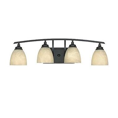 Designers Fountain Tackwood 4-Light Vanity Light; Burnished Bronze