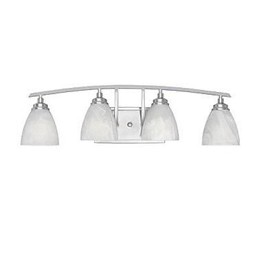 Designers Fountain Tackwood 4-Light Vanity Light; Satin Platinum