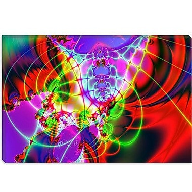 iCanvas Digital 'Spider Web' Graphic Art on Canvas; 26'' H x 40'' W x 0.75'' D