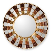 Novica The Marcos Luzalde Reverse Painted Glass Mirror