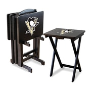 Imperial NHL TV Trays w/ Stand (Set of 4); Pittsburgh Penguins