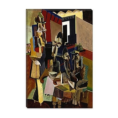 iCanvas Fine Art 'The Visit' by Max Weber Painting Print on Canvas; 26'' H x 18'' W x 1.5'' D
