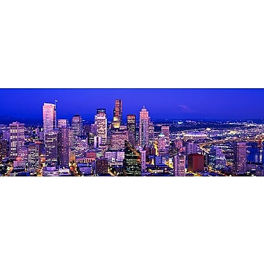 iCanvas Panoramic Washington, Seattle, Cityscape at Dusk Photographic Print on Canvas