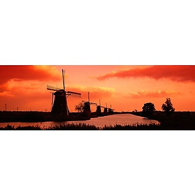 iCanvas Panoramic 'Windmills Holland Netherlands' Photographic Print on Canvas