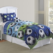 Hallmart Collectibles Soccer Comforter Set; Twin