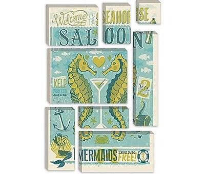 iCanvas Anderson Design Group 'Seahorse Saloon' Vintage Advertisment on Canvas